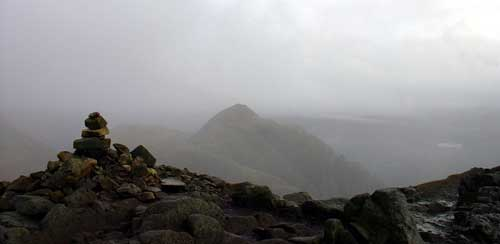Harrison Stickle in the cloud