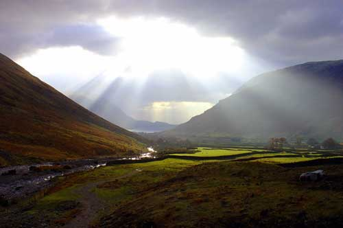 Sunbeams at Wasdale Head